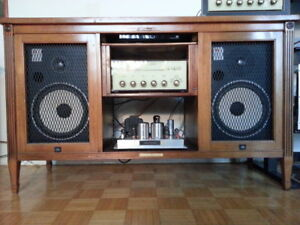Electrohome Stereo Power Amp, Preamp, JBL speakers, DVD player