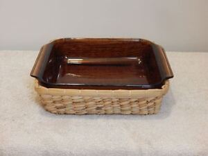 Square Baking Dish with Wicker Serving Basket Peterborough Peterborough Area image 1