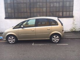 Gold Vauxhall Meriva Hatchback With Private Windows And Twin Sunroof