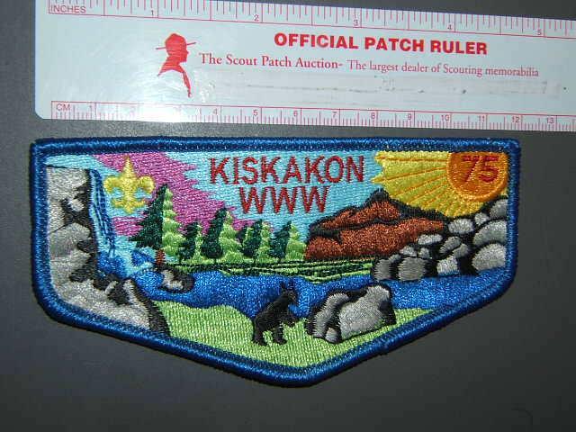 Boy Scout OA 75 Kiskakon flap 1382R