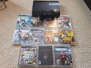Playstation 3 500GB Super Slim+11 Games