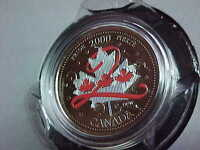 2000 Pride Proud To Be Canadian Coloured Maple Leaf Quarter!!