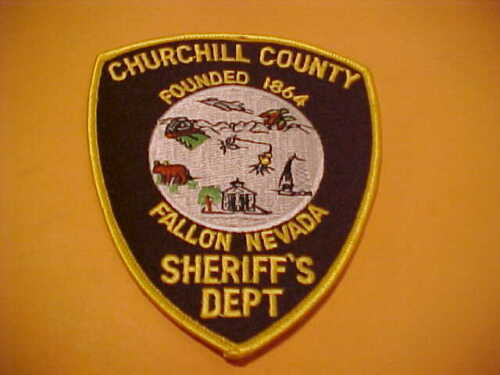 CHURCHILL COUNTY NEVADA POLICE PATCH SHOULDER SIZE UNUSED