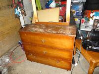 3 drawer solid wood dresser