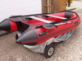 3.8m inflatable boat dinghy tender rib aluminium deck v keel fishing dive like honda honwave zodiac