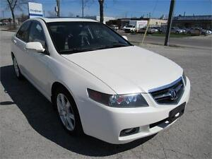 2004 ACURA TSX, WHITE ON BLACK INT, MINT COND,
