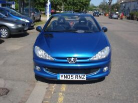Peugeot 206 1.6 S 2dr, 2005 model, Long MOT, New Clutch