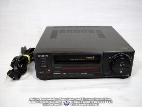 SONY EV-A50 ( EV-C3 ) Video8 8mm VCR Editing Player - 90 Days Warranty