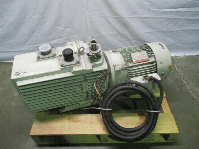 Leybold D60AC Vacuum Pump, General Electric GE 5K184FL3443A Motor, 453526