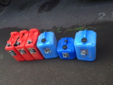 3 20 ltr jerry cans 2 x25 ltr. water 1x15ltr water St Kilda Port Phillip Preview