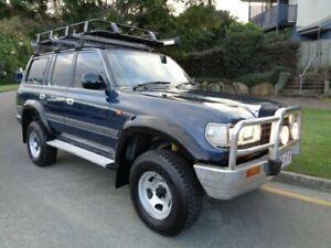 1996 Toyota Landcruiser GXL (4x4) Blue Metallic 4 Speed Automatic 4x4 Wagon Chermside Brisbane North East Preview