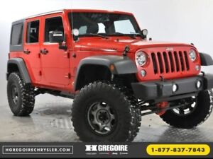 2016 Jeep Wrangler Unlimited Rubicon 4x4 MAN CUIR Bilsteins lift