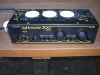 LIGHTMASTER 300 3 CHANNEL DISCO LIGHT BULGIN CONTROLLER , £95