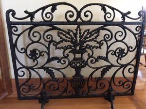 Ornamental Wrought Iron Fireplace Screen