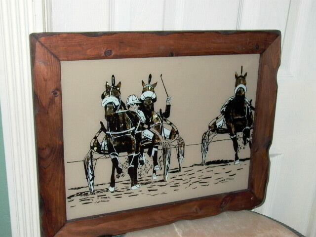 Horse with Jockey Race Racing Sign