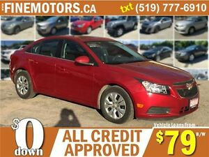 2014 CHEVROLET CRUZE LT * LOW KM * FINANCING AVAILABLE