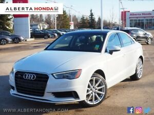 2015 Audi A3 Low Kms. Sunroof. Heated Leather Seats. Viper