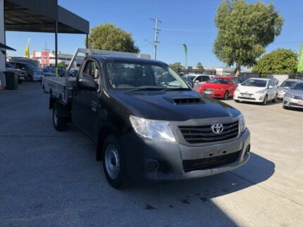 2012 Toyota Hilux KUN16R MY12 Workmate Black 5 Speed Manual Cab Chassis Coopers Plains Brisbane South West Preview