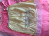 Short Vintage Yellow Slip with Dainty flower design excellent