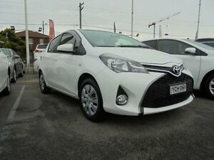 2014 Toyota Yaris NCP131R MY15 SX Glacier White 4 Speed Automatic Hatchback Belmore Canterbury Area Preview