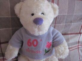 60th Birthday Teddy - - - £2 - - -