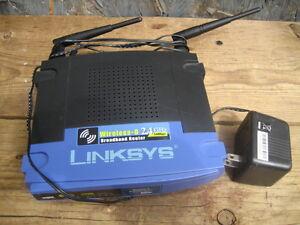linksys wrt54g wireless -G 2.4 Ghz broadband router, 54 mbps. $