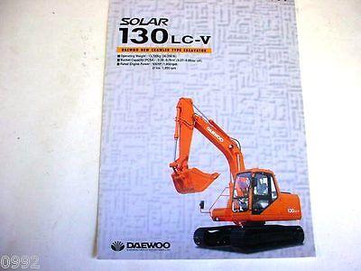 Daewoo Solar 130lc-v Hydraulic Excavator Color Brochure