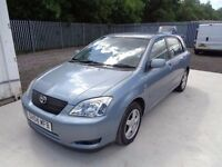 2004 TOYOTA COROLLA 1.6 T3 VVTI 5 DOOR HATCHBACK BLUE 53,000 ONLY MOT: *17/03/17* 1 OWNER FROM NEW