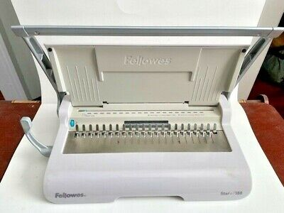 Fellowes Star 150 Manual Plastic Comb Binding Machine Spiral Bound Office Tool