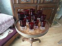 LUMINARC FRANCE Wine / Water GOBLETS (2 Sizes) & Cordial GLASSES