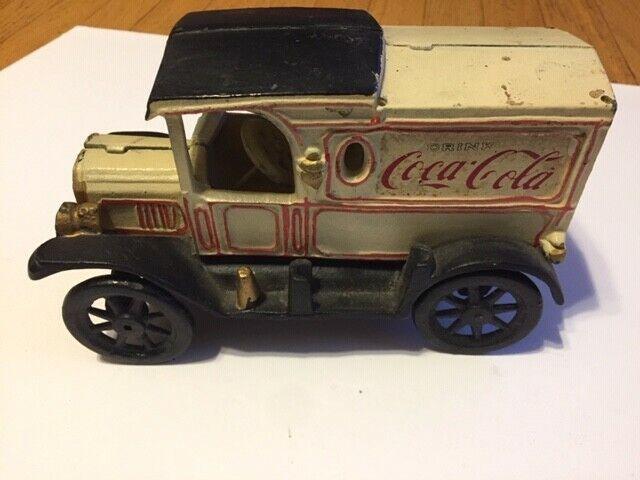 COKE Coca-Cola Cast Iron Delivery Truck VINTAGE