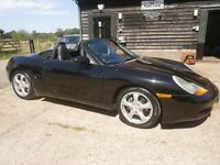 02 PORCHE BOXTER 2.7 POWER ROOF CONVERTABLE BLACK/BLACK LEATHER HEATED SEATS
