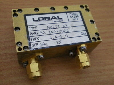 Rf Microwave Loral Terra Com Rf Frequency Module X2 Multiplier 4.4- 5.0 Ghz Sma