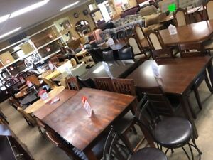 LARGE SELECTION OF SOLID WOOD DINING ROOM SETS IN STOCK