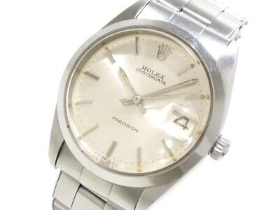 Auth ROLEX Oyster Date 6694 Silver Men