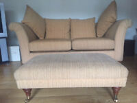 Marks and spencer large two seat sofa and footstool