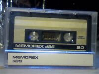 MEMOREX DBS 90 (1987-1988) CASSETTE TAPES.