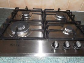 NEFF Gas Hob 4 Rings Model No. T22S46N0. Stainless Steel