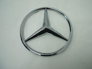 Genuine mercedes benz silver radiator grille star badge for Silver star mercedes benz parts