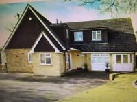 Family home 4 bedrooms, 3 bathrooms, living room, conservatory, office space, garden, parking