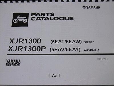 YAMAHA XJR 1300 1300P PARTS LIST MANUAL CATALOGUE 1300 P 5EAT  5EAW 5EAV  5EAY.