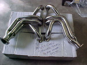 TRI 5-1955,56,57 SBC CHEVY HEADERS (only black left) long tube London Ontario image 3