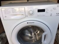 £99.99 Hotpoint new model washing machine+8kg+1400 spin+3 months warranty for £99.99