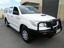 2012 Toyota Hilux KUN26R MY12 SR (4x4) White 5 Speed Manual Melrose Park Mitcham Area Preview