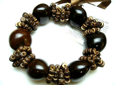 Hawaii Wedding / Graduation Kukui Nut Luau Hula Jewelry Bracelet ~#24089 (QTY 2)