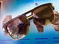 DITA Grandmaster Four Sunglasses DRX 2060-A-BLK-GLD-58 Black Frame