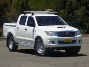 2012 Toyota Hilux KUN26R MY12 SR Double Cab White 4 Speed Automatic Utility Blair Athol Port Adelaide Area Preview