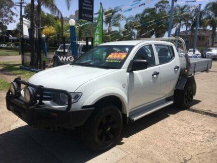 2012 Mitsubishi Triton MN MY13 GLX White Sports Automatic Utility Cabramatta Fairfield Area Preview