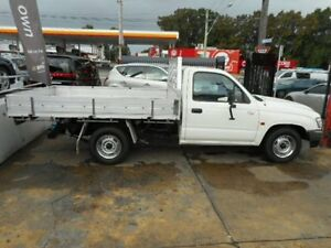 2002 Toyota Hilux Workmate White Manual Utility Croydon Burwood Area Preview