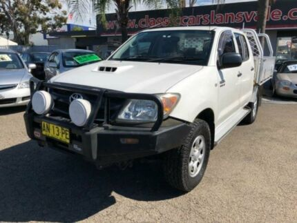 2006 Toyota Hilux KUN26R SR (4x4) White 4 Speed Automatic Dual Cab Pick-up Cabramatta Fairfield Area Preview